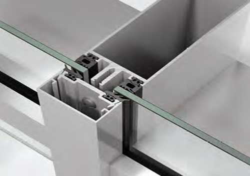 Schüco TropTec SC 50.NI with single glazing
