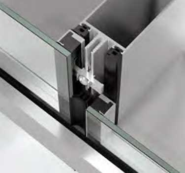 Schüco TropTec SC 50 SG.NI with single glazing, semi-structural-glazing look and horizontal emphasis
